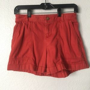 Old Navy Rusty Red Mid Rise Dressy Chino Shorts 2